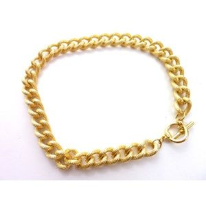 Vintage Thick Chain Choker Necklace Snake Pattern